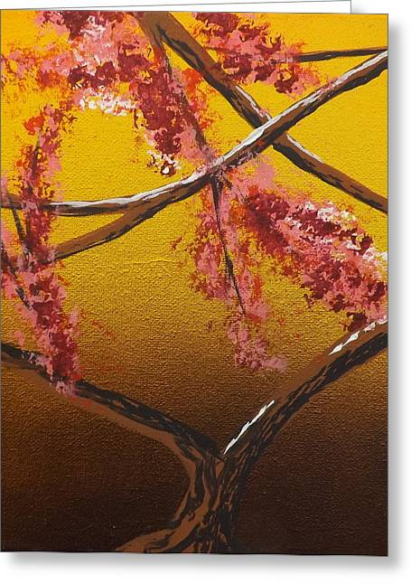 Burnt Umber Greeting Cards - Living Loving Tree bottom center Greeting Card by Darren Robinson