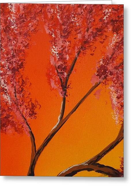 Burnt Umber Greeting Cards - Living Loving Tree top left Greeting Card by Darren Robinson