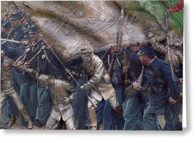 Brigade Greeting Cards - Living Monuments Greeting Card by William Coffey