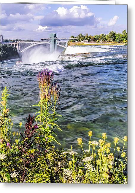 Prospects Greeting Cards - Living on the Edge Niagara Falls Greeting Card by LeeAnn McLaneGoetz McLaneGoetzStudioLLCcom