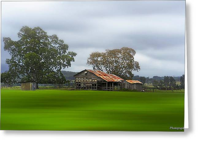 Shed Digital Art Greeting Cards - Living on the land 0002 Greeting Card by Kevin Chippindall