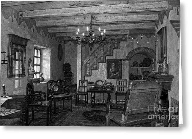 Borromeo Greeting Cards - Living room in Carmel Mission Greeting Card by RicardMN Photography