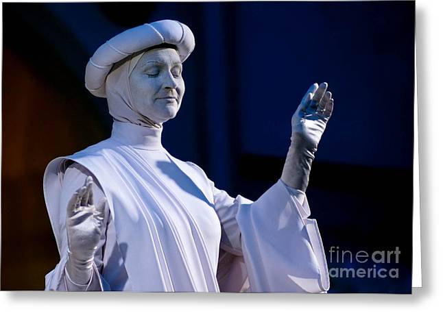 Las Vegas Greeting Cards - Living Statue Las Vegas  Greeting Card by Amy Cicconi