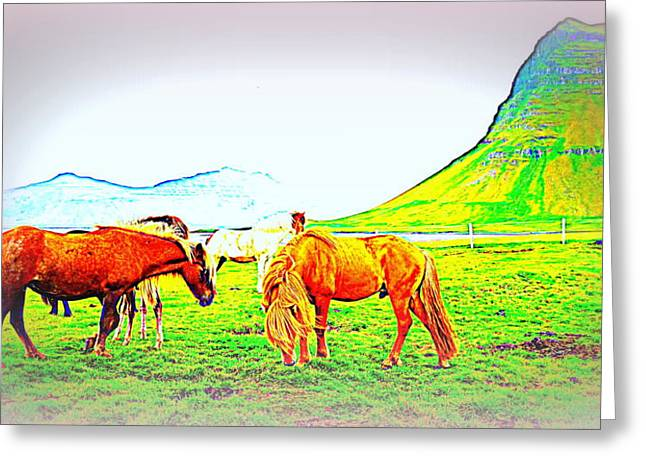 Psychiatric Greeting Cards - Living Under This Mountain Greeting Card by Hilde Widerberg