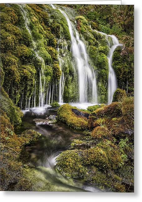 Red Photographs Greeting Cards - Living Water Greeting Card by Jon Glaser