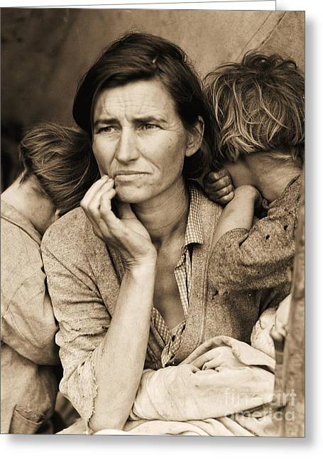 Hopelessness Greeting Cards - Living With Poverty Greeting Card by Pg Reproductions