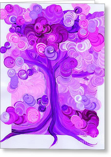 First Love Greeting Cards - Liz Dixons Tree pink by jrr Greeting Card by First Star Art
