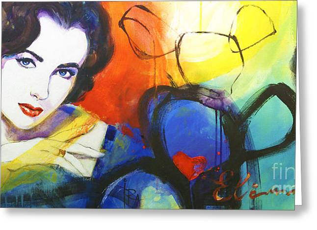 Liz Taylor Greeting Cards - Liz Greeting Card by Ira Ivanova