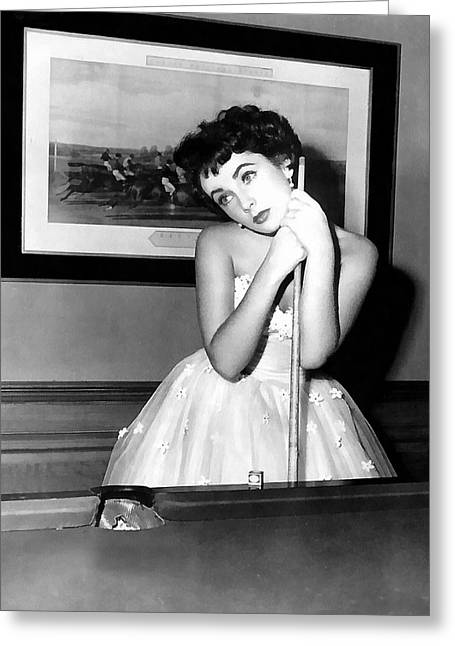 Liz Taylor Elizabeth Taylor Greeting Card by Studio Photograph