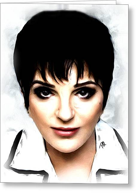 Recently Sold -  - Award Greeting Cards - Liza Minnelli Greeting Card by Paul Quarry