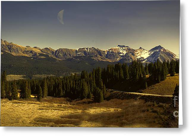 Snow Capped Greeting Cards - Lizard Head Saffron Sunset Greeting Card by Janice Rae Pariza