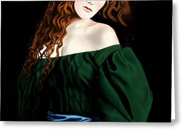 Lizzie Siddal Greeting Card by Andrew Harrison