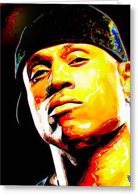 Celebrity Greeting Cards - LL Cool J Greeting Card by  Fli Art