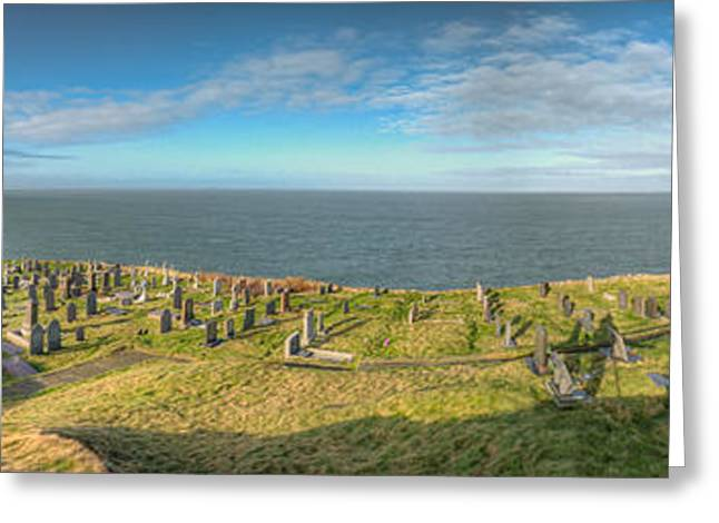Llanbadrig Church Panorama Greeting Card by Adrian Evans