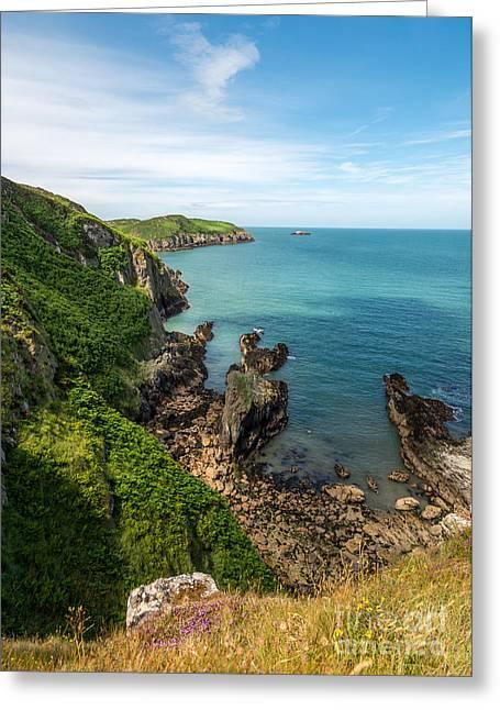 Anglesey Greeting Cards - Llanbadrig Coastline Greeting Card by Adrian Evans