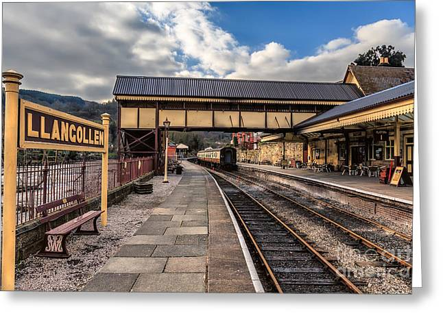 Arch Greeting Cards - Llangollen Railway Station Greeting Card by Adrian Evans