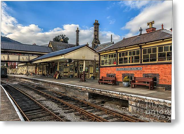 Arch Greeting Cards - Llangollen Station Greeting Card by Adrian Evans