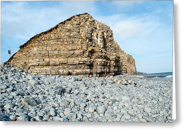 Vale Greeting Cards - Llantwit Major Cliff Greeting Card by Eliza Donovan