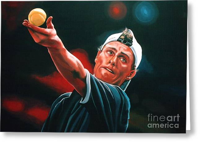 Wimbledon Greeting Cards - Lleyton Hewitt 2  Greeting Card by Paul  Meijering