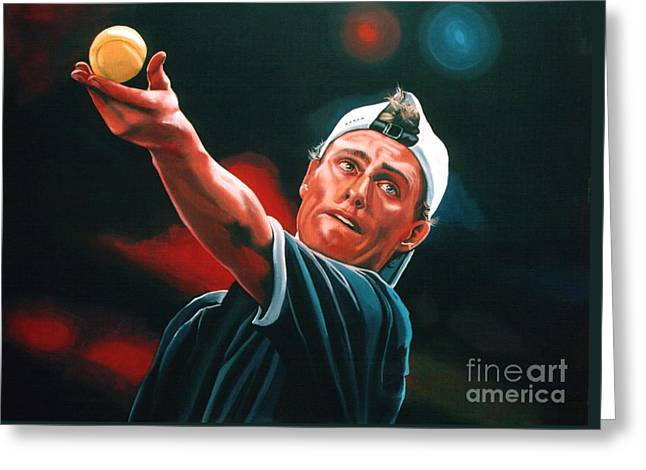 Tennis Ball Greeting Cards - Lleyton Hewitt 2  Greeting Card by Paul Meijering