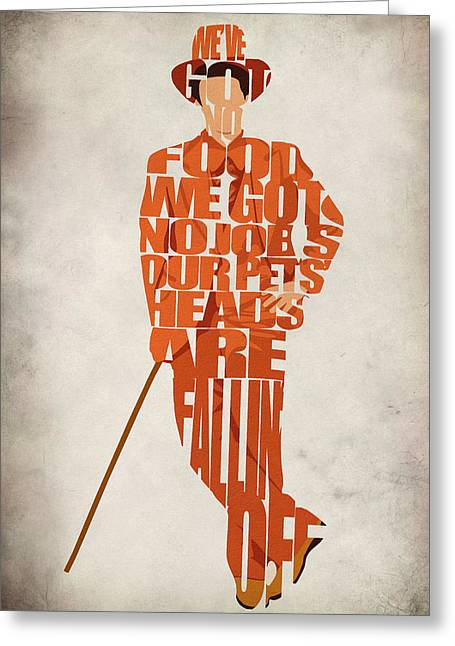 Typography Print Greeting Cards - Lloyd Christmas Greeting Card by Ayse Deniz