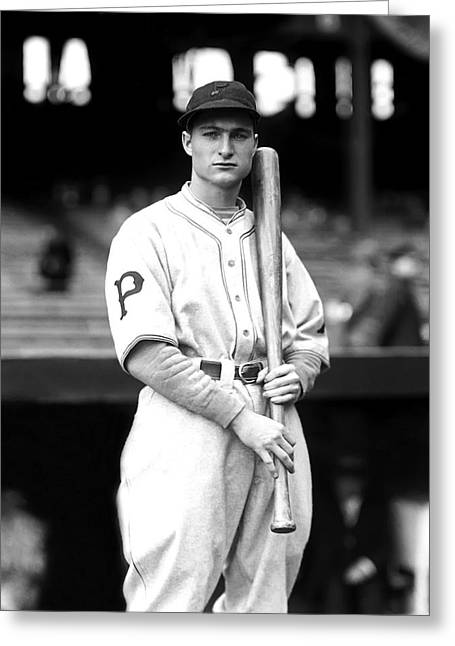Pittsburgh Pirates Photographs Greeting Cards - Lloyd J. Waner Greeting Card by Retro Images Archive