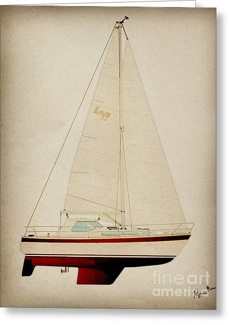 Lm Historic Sailboat Greeting Card by Regina Marie Gallant