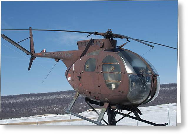 Oh-6a Greeting Cards - Loach OH 6A CAYUSE Side Greeting Card by Rob Luzier