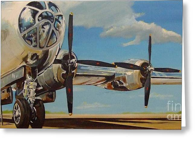 B29 Bomber Greeting Cards - Loaded Dice Greeting Card by Terence R Rogers