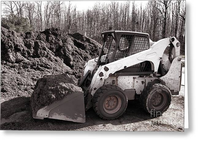 Bobcats Greeting Cards - Loader  Greeting Card by Olivier Le Queinec