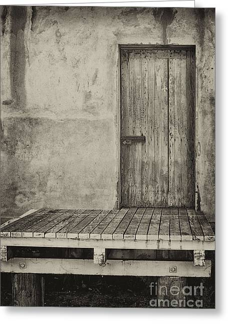 Wooden Platform Greeting Cards - Loading dock  Greeting Card by Wendy Townrow