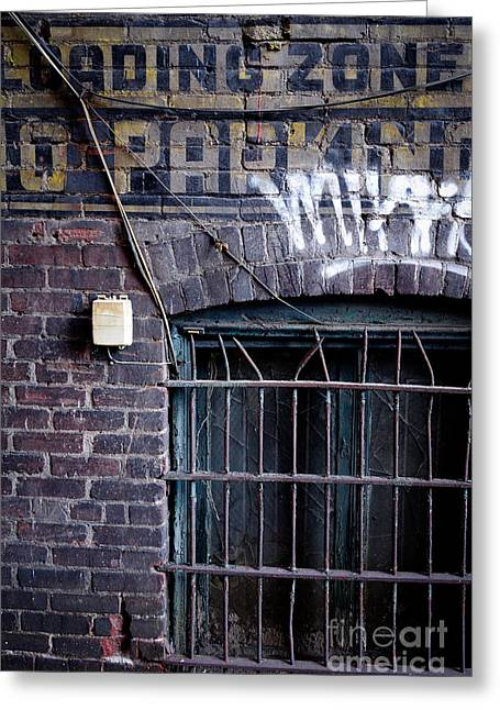 Grate Greeting Cards - Loading Zone no Parking Greeting Card by Amy Cicconi