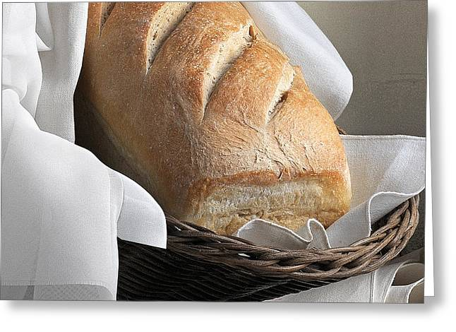 Loaf of Bread Greeting Card by Krasimir Tolev