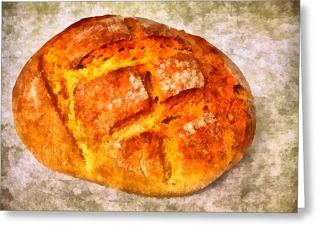 Loaf of bread Greeting Card by Matthias Hauser