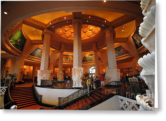 Exclusive Greeting Cards - Lobby of Royal Towers Atlantis Resort Greeting Card by Amy Cicconi