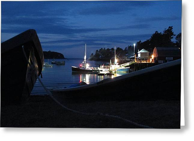 Lobster Boat Mackerel Cove Greeting Card by Donnie Freeman