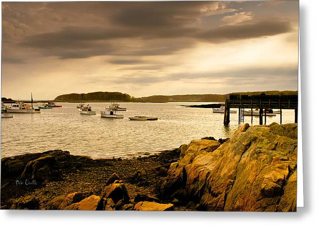 Lobster Boats Cape Porpoise Maine Greeting Card by Bob Orsillo