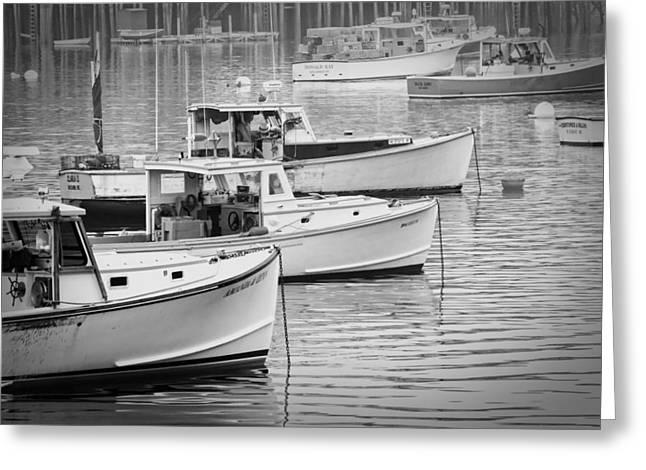 Bass Harbor Greeting Cards - Lobster Boats In Bass Harbor and Bernard Maine  Greeting Card by Keith Webber Jr