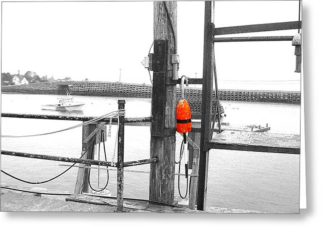 04003 Greeting Cards - Lobster Buoy Greeting Card by Donnie Freeman