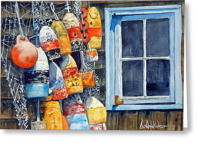 Lobster Buoys Greeting Card by Bill Hudson