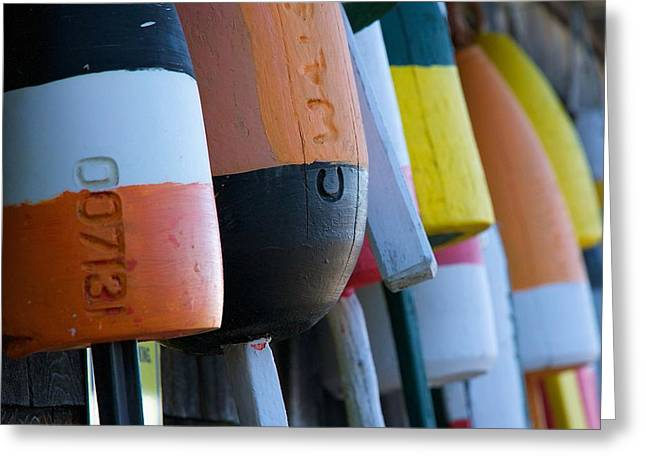 Docked Boat Greeting Cards - Lobster Buoys Greeting Card by Stuart Litoff