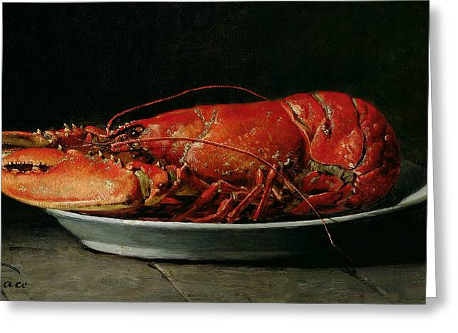 Red Claws Greeting Cards - Lobster Greeting Card by Guillaume Romain Fouace