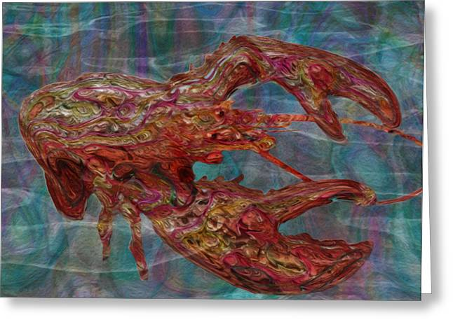Scuba Diving Digital Greeting Cards - Lobster Greeting Card by Jack Zulli