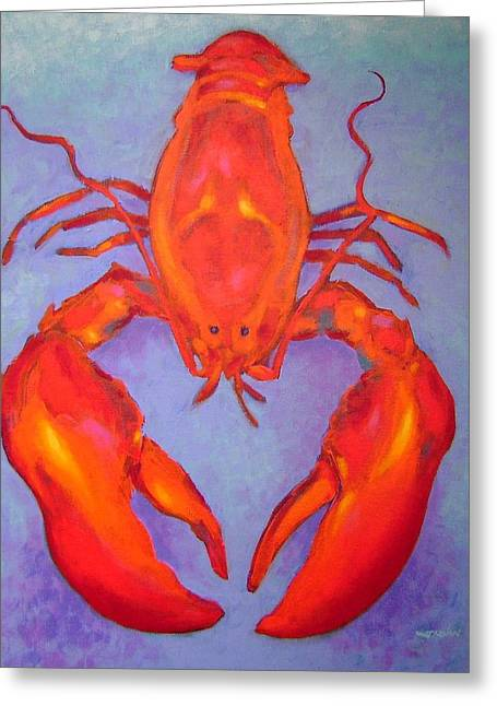 Shell Fish Greeting Cards - Lobster Greeting Card by John  Nolan