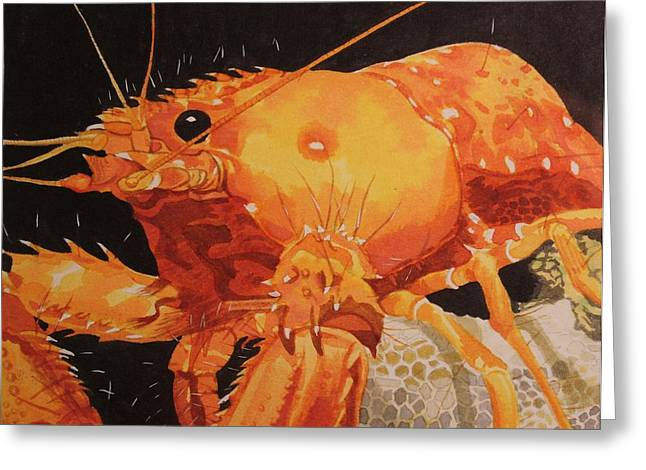Sealife Posters Greeting Cards - Lobster Love... Greeting Card by Teresa Grace Fourre