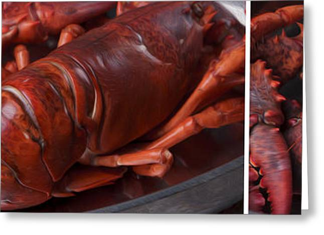 Panos Greeting Cards - Lobster Greeting Card by Nailia Schwarz