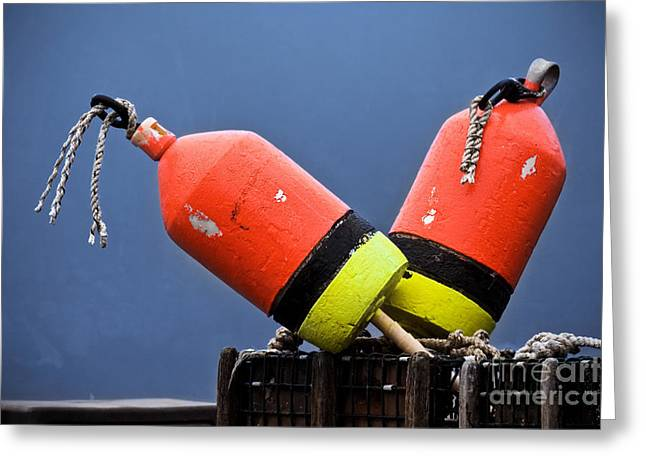 Lobster Shack Greeting Cards - Lobster Pot Buoys Greeting Card by Jerry Fornarotto