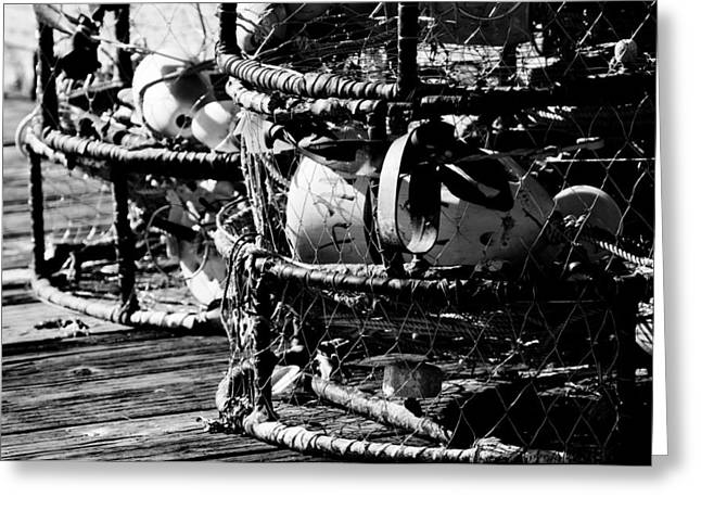 Lobster Pot Greeting Cards - Lobster Pots Greeting Card by Puget  Exposure