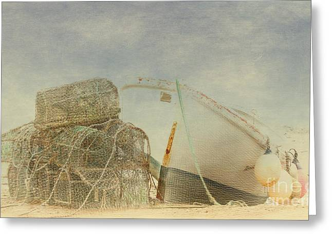 Shabbychic Greeting Cards - Lobster Pots. Greeting Card by ShabbyChic fine art Photography