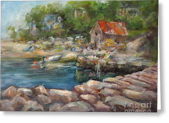 Lobster Shack Paintings Greeting Cards - Lobster Shack Greeting Card by B Rossitto